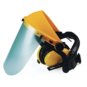 Маска защитная (плекс) с наушниками Unisaw фото
